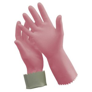 Oates Rubber Gloves Pink Size 8