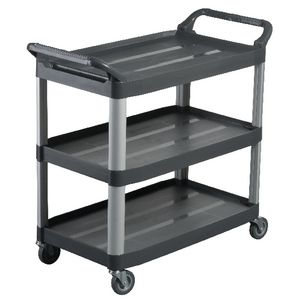 Oates Utility Cart 3 Tier Charcoal