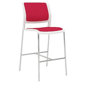 OLG Game 4 Leg Barstool Fully Upholstered Red