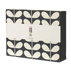 Orla Kiely Boxed Note Cards Midnight Stem