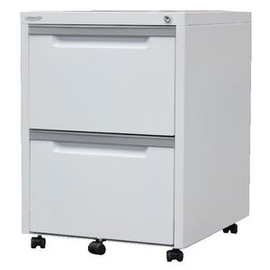 Steelco 2 Drawer Mobile Pedestal  White Satin
