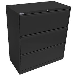 Steelco 3 Drawer Lateral Cabinet Graphite Ripple
