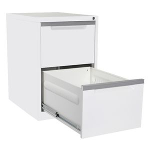 Steelco 2 Drawer Filing Cabinet White Satin