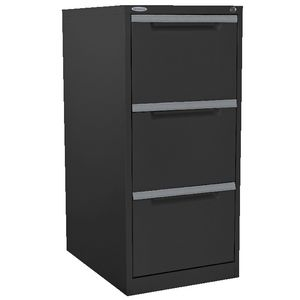 Steelco 3 Drawer Filing Cabinet Graphite Ripple