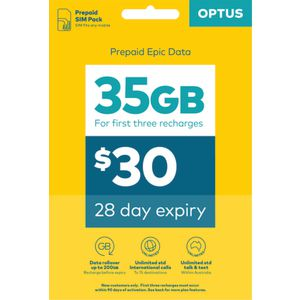 Optus $30 Voice Triple SIM Starter Kit