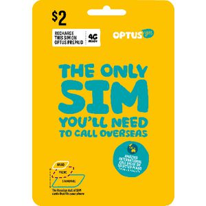 Optus $2 Voice International Triple SIM Starter Kit