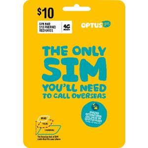 Optus $10 Voice International Triple SIM Starter Kit