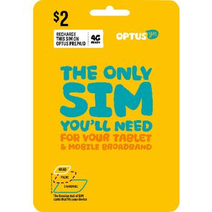 Optus $2 Mobile Broadband Triple SIM Starter Kit