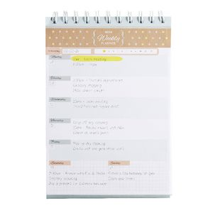 A5 Weekly Desktop Planner 50 Sheets Natural
