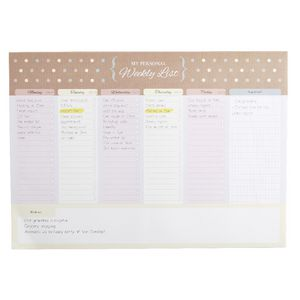 A4 Weekly Planner 52 Sheets Natural