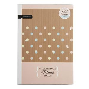 B5 Undated Personal Monthly Planner 50 Page Natural