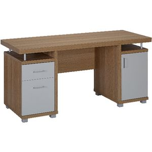 Oslo Twin Cabinet Desk Officeworks