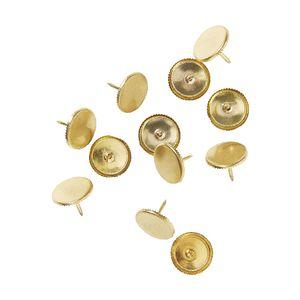 otto circle thumb tacks gold 12 pack officeworks