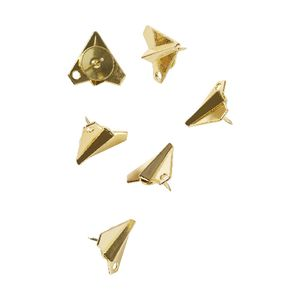 Otto Airplane Thumb Tack Gold 6 Pack