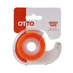 Otto Invisible Adhesive Tape with Dispenser 18mm x 33m Orange