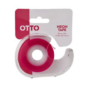 Otto Invisible Adhesive Tape with Dispenser 18mm x 33m Pink