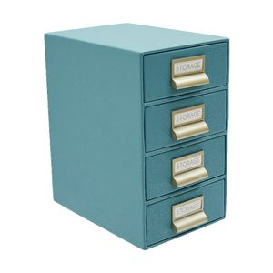 Otto Criss Cross 4 High Storage Drawers Aqua