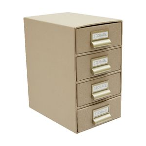Otto Criss Cross 4 Drawer Cabinet Stone
