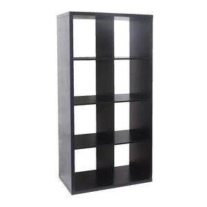 Horsens 8 Cube Bookcase Black
