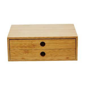 Otto landscape 2 drawer cabinet bamboo officeworks for Bamboo kitchen cabinets australia