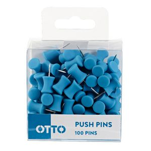 Otto Brights Push Pins 100 Pack Blue