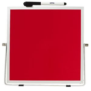 Otto Double Sided Desktop Whiteboard Red