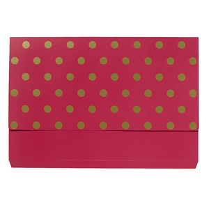 Otto A4 Manilla Document Wallet Pink with Gold Foil Spots