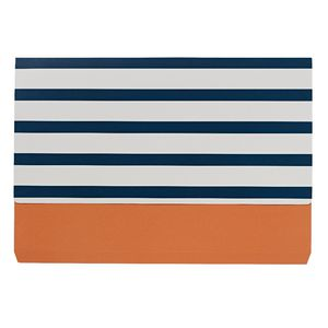 Otto A4 Manilla Document Wallet Navy Stripes