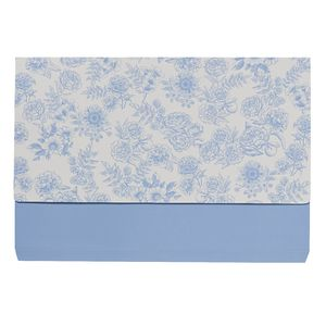 Otto A4 Manila Document Wallet Blue Floral