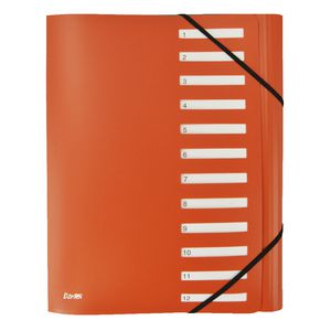 Bantex On The Go A4 Expand Personal Organiser 12 Tab Orange