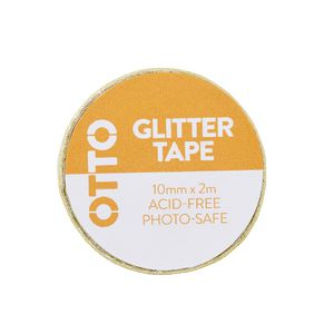 Otto Glitter Tape 10mm x 2m Yellow
