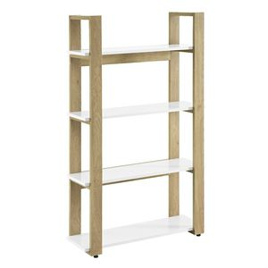 Linear Bookshelf Oak and White