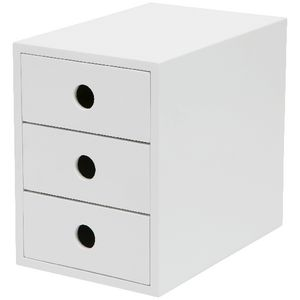 Otto 3 Drawer Cabinet White