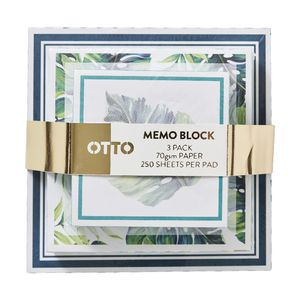 Otto 3 Tier Memo Block Palm