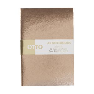 Otto A5 Metallic Notebook 3 Pack