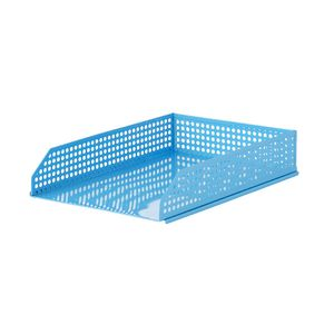 Otto Punched Metal Document Tray Blue