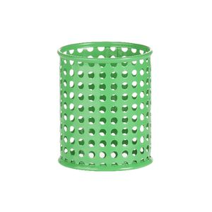 Otto Punched Metal Pen Cup Green