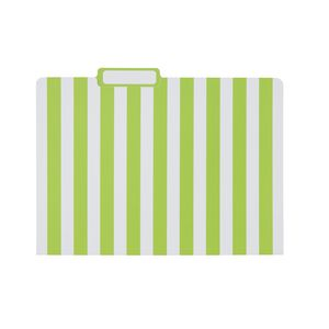 Otto Printed Manila Folder A4 Lime Stripe