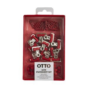 Otto Brights Mini Stationery Set Red