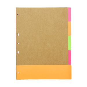 Otto Kraft Dividers 5 Tab Neon Assorted