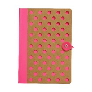 Otto A5 Kraft Notebook 192 Page Neon Pink
