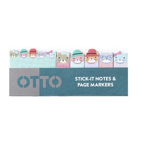 Otto Stick-It Notes and Page Markers Cats