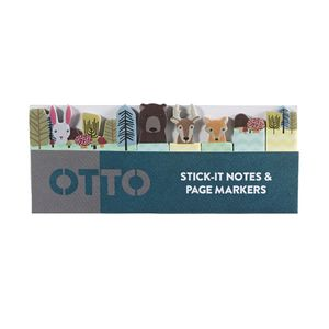 Otto Stick-It Notes and Page Markers Forest Animals