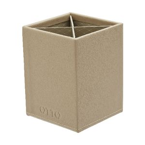 Otto Criss Cross Pen Cup Stone