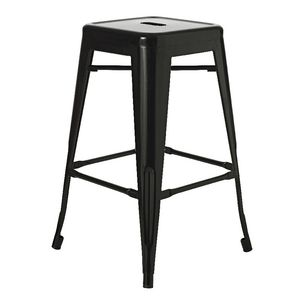 Steel Stacking Stool Gloss Black