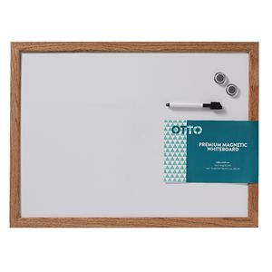 Otto Premium Magnetic Whiteboard 45 x 60cm Oak