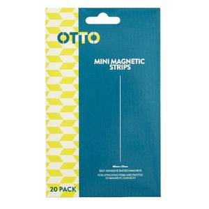 Otto Self Adhesive Magnetic Strips 40 x 15 mm 20 Pack