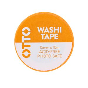 Otto Washi Tape 15mm x 10m Neon Orange Pattern