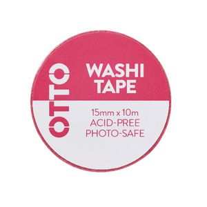Otto Washi Tape 15mm x 10m Neon Pink Pattern