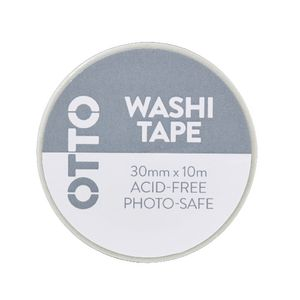 Otto Washi Tape 30mm x 10m Black Pattern